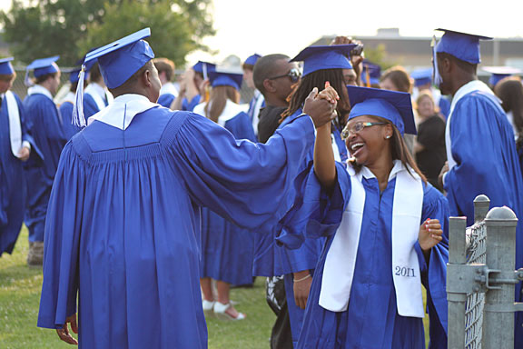 Students celebrate graduation